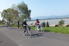 観光サイクリングの写真