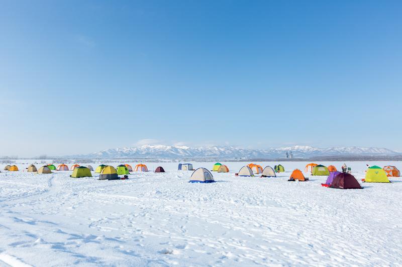 オアシスパーク冬景色の写真